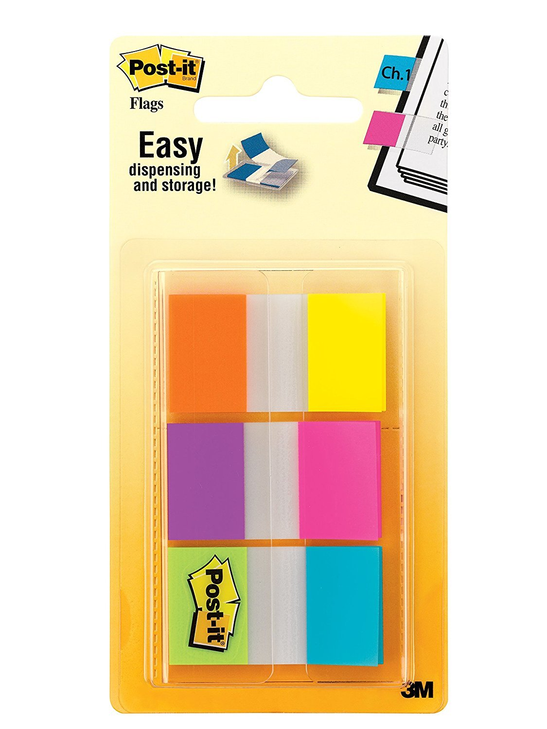 Post-It Flags Combination Pack - Electric Glow (60 Flags) image