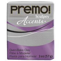 Sculpey Premo Accent White Gold Glitter (57g)