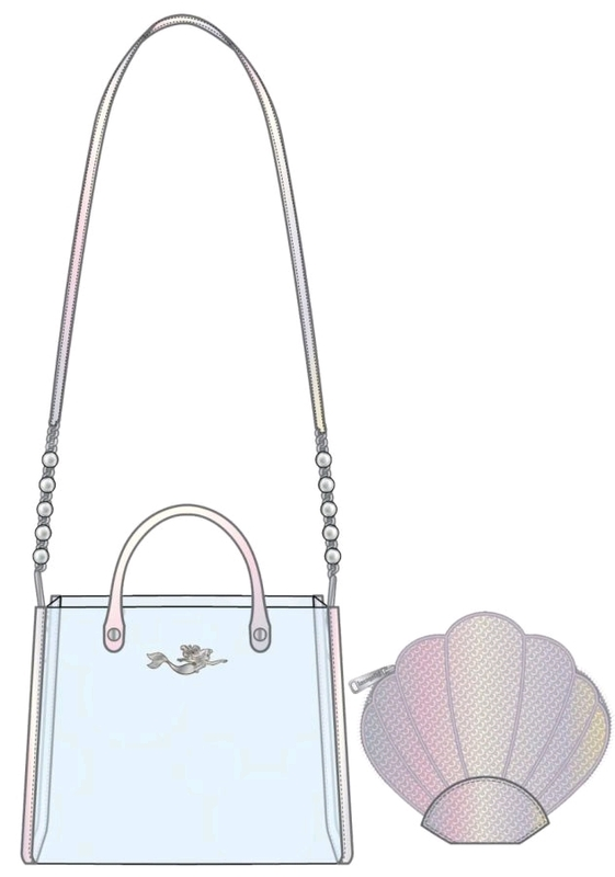 Loungefly: The Little Mermaid 30th Anniversary 2pc Crossbody Bag - Ariel