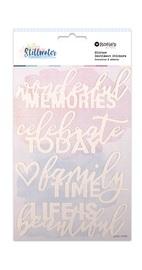 Rosie's Studio: Glitter Statement Stickers - Stillwater