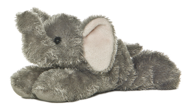 Mini Flopsies - Ellie Elephant 20cm Plush image