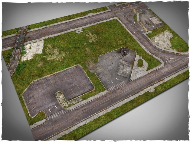 DeepCut Studio Walking Dead Town Mat (6x4)