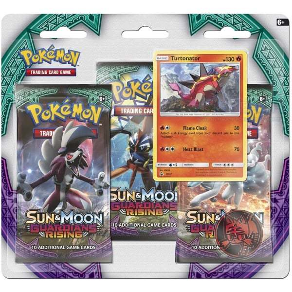 Pokemon TCG Sun & Moon Guardians Rising 3 Pack Blister: Turtonator image