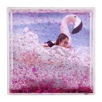Sunnylife Glitter Frame Square - Flamingo