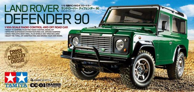 TAMIYA 1/10 RC Land Rover Defender 90 - CC01 - Assembly kit