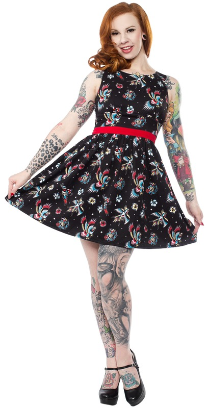 Sourpuss: Birds of Paradise Shift Dress (S)