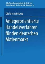 Anlegerorientierte Handelsverfahren Fur Den Deutschen Aktienmarkt