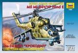 Zvezda: 1/72 MIL MI-24B HIND C Helicopter Model Kit