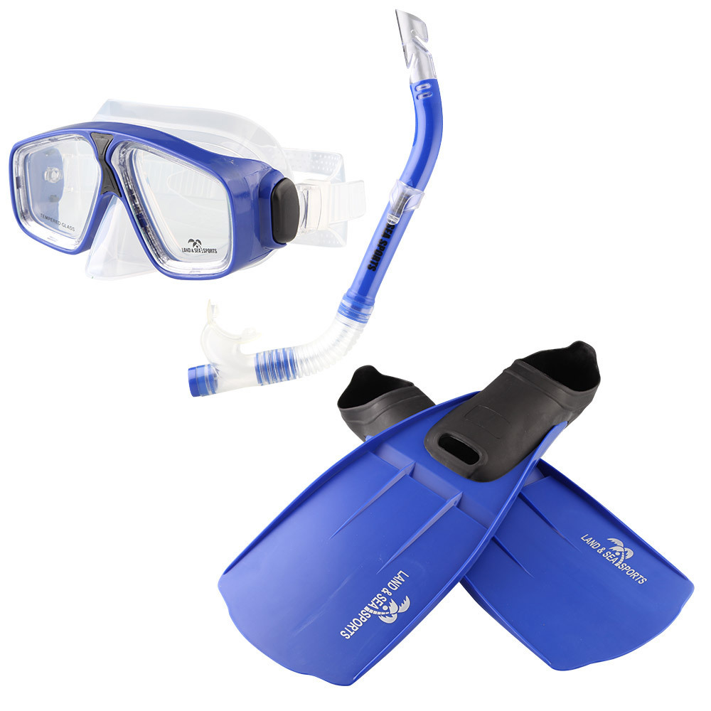 Land And Sea: Adventure Mask/Snorkel/Fin Set - Small (Blue) image