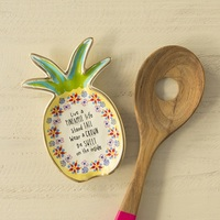 Natural Life: Ceramic Spoon Rest - Pineapple Life