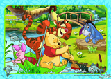 Winnie the Pooh 35 Piece Frame Tray Puzzle - A Floaty Adventure