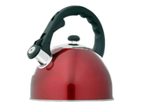 Stainless Steel 2.5 Litre Whistling Kettle - Red