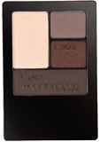 Maybelline Expert Wear Eye Shadow Quad Palette - Natural Smokes