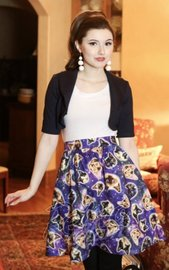 Galaxy Cats Aline Skirt (Large)