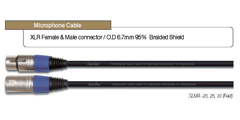 EWI Starline XLR Microphone Cable (20ft)