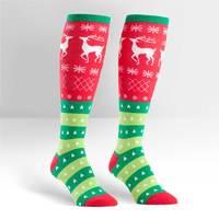 Womens - Tacky Holiday Sweater Knee High Socks