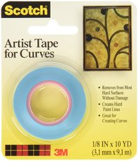 Scotch Artist Tape for Curves (3.1mm x 9.1m)