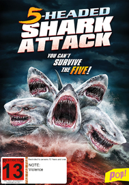5 Headed Shark Attack on DVD