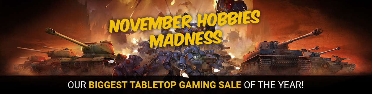 November Hobbies Madness on NOW!