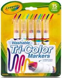 Crayola: Washable Tri-Colour Markers