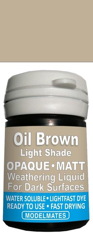 Modelmates: Opaque Weathering Liquid - Light Oil