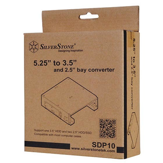 """SilverStone SST-SDP10B Single 5.25"""" to 1*3.5"""" & 2*2.5"""" bay"""