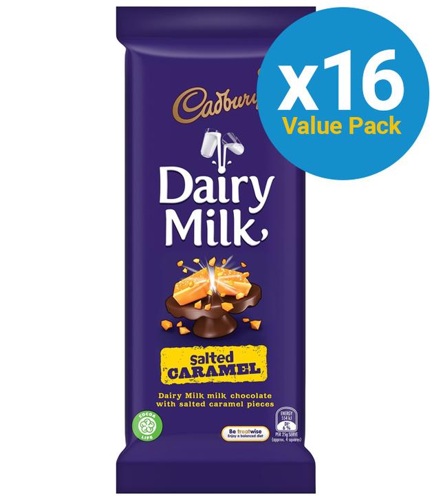 Cadbury: Dairy Milk - Salted Caramel 180g (16 Pack)