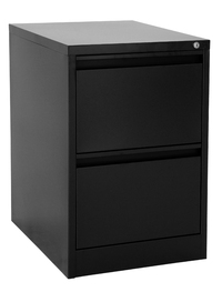 Proceed Lockable Filing Cabinet 2 Drawer - Black