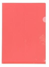 FM A4 L Shape Pockets - Red (Pack 12)