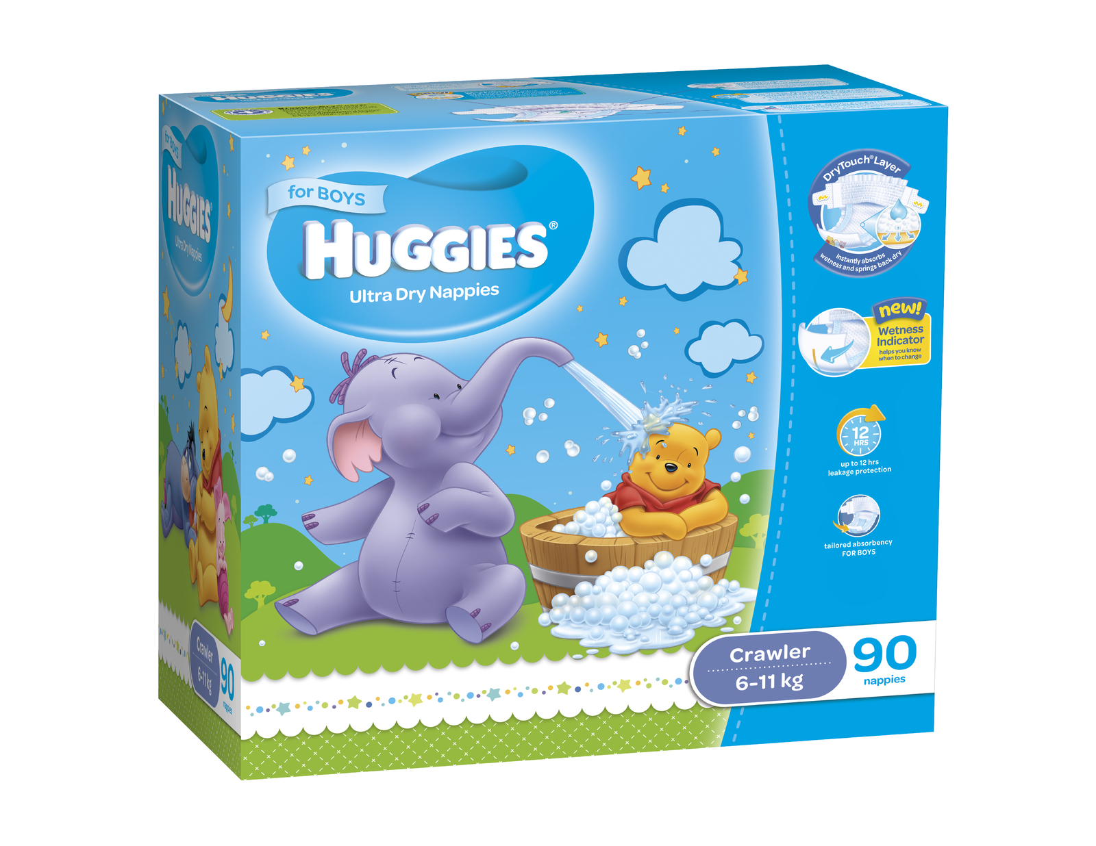 buy huggies nappies jumbo pack crawler boy at mighty ape australia