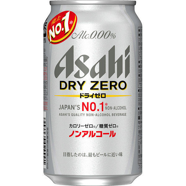 Asahi: Dry Zero No Alcohol Beer - 350ml -