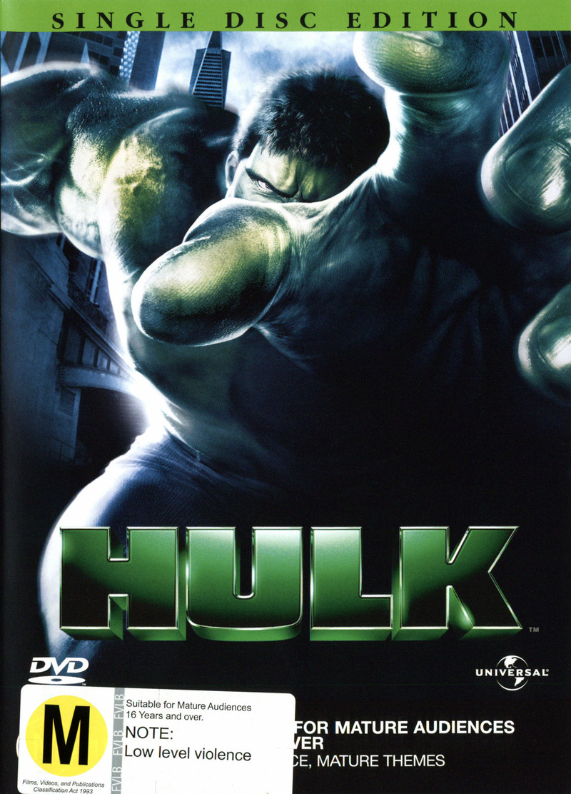 Hulk (Single Disc) on DVD image