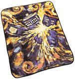 Doctor Who Van Gogh TARDIS Throw Blanket