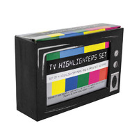 TV Highlighters Desk Set