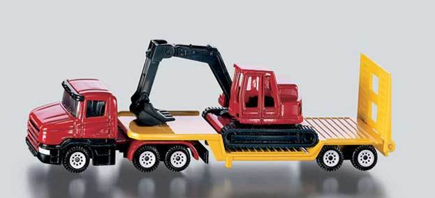Siku: Low Loader with Excavator