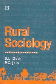 Rural Sociology by S L Doshi image