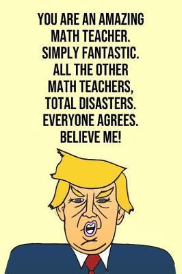You Are An Amazing Math Teacher Simply Fantastic All the Other Math Teachers Total Disasters Everyone Agree Believe Me by Laugh House Press