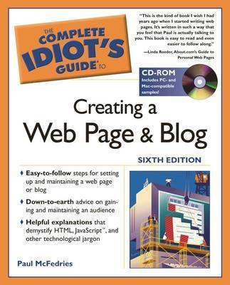 The Complete Idiot's Guide to Creating a Web Page and Blog by Paul McFedries image