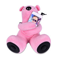 Portable Teddy Bear Speaker (Pink)