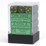 Chessex Signature 12mm D6 Dice Block: Golden Recon Speckled