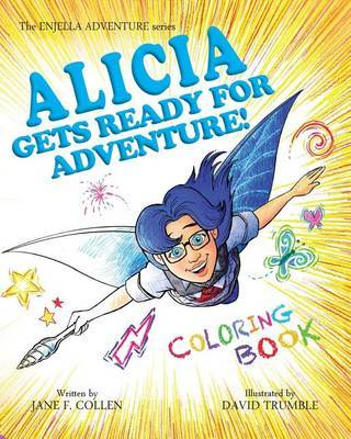 8x10coloring Book Alicia Gets Ready by Jane F Collen