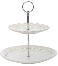 Maxwell & Williams Lille 2 Tiered Cake Stand Gift Boxed