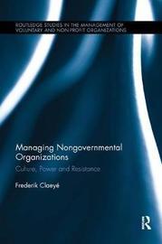 Managing Nongovernmental Organizations by Frederik Claeye image