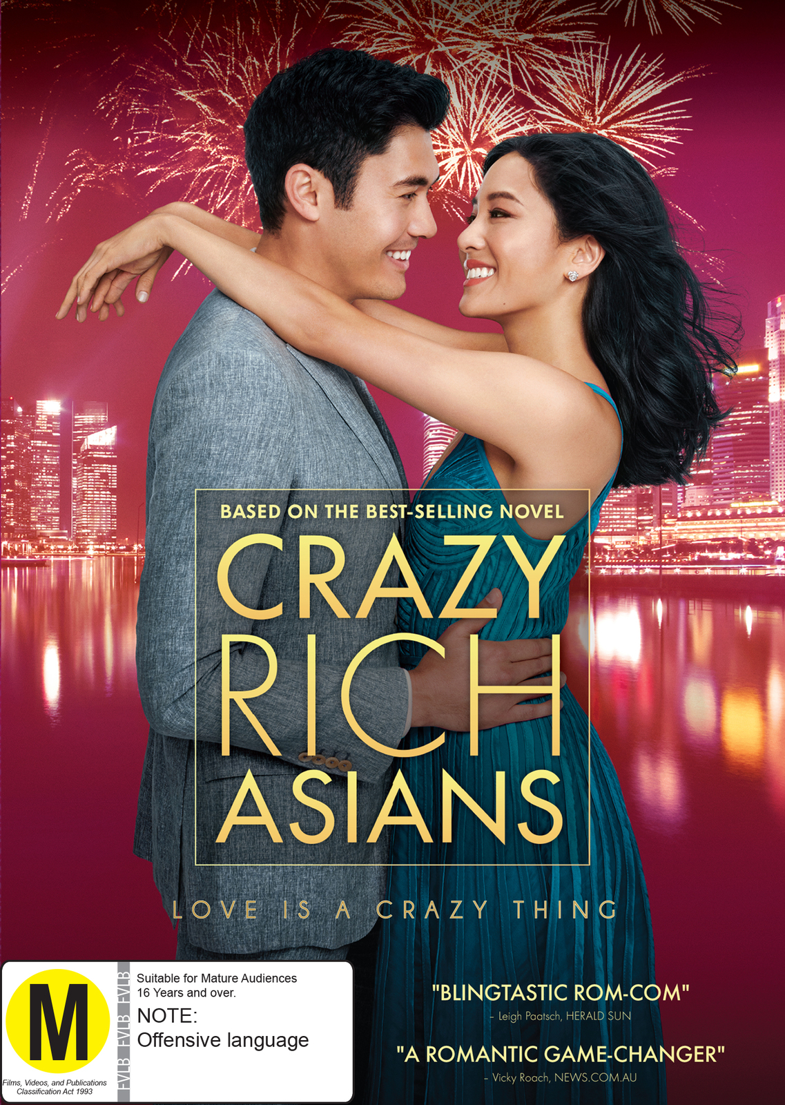 Crazy Rich Asians on DVD image