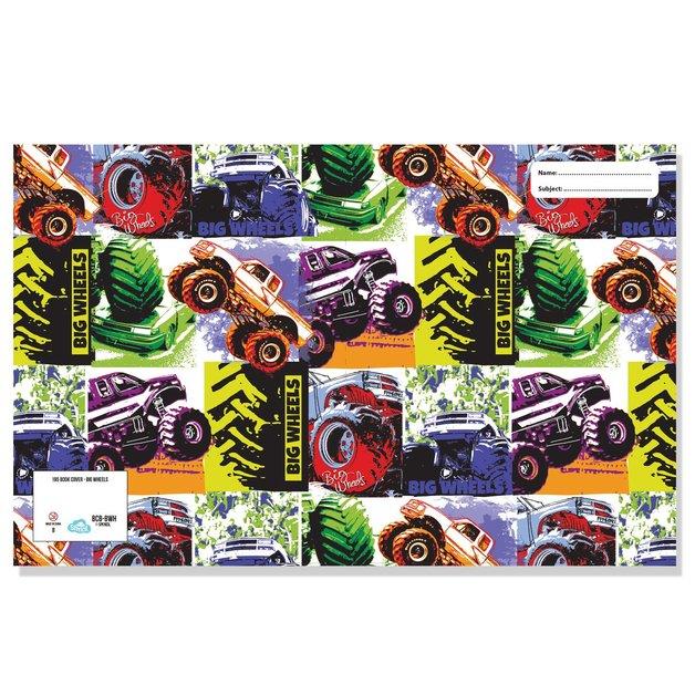 Spencil: A4 Book Cover - Big Wheels