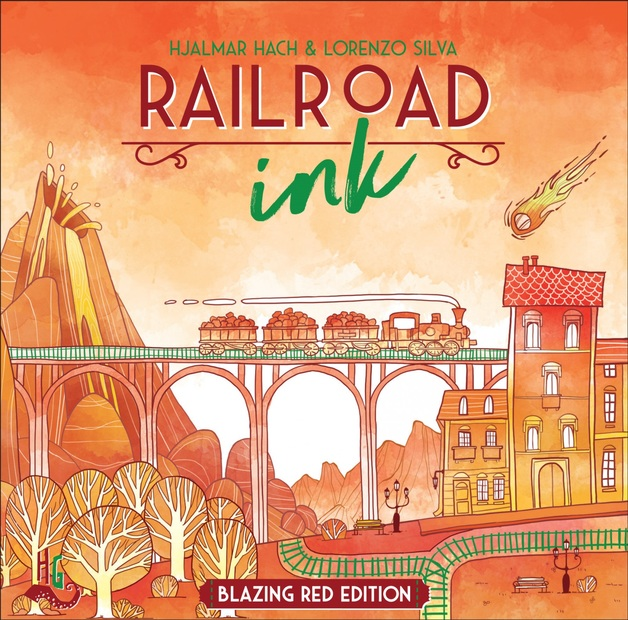 Railroad Ink: Blazing Red Edition - Board Game