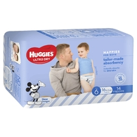 Huggies: Ultra Dry Boy Nappies - Size 6 (14 Pack)