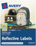 Avery Orange and Green Reflective Labels Assorted Shapes & Sizes Pkt42