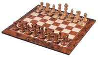 Large Magnetic Chess & Checkers Set (Brown/White)