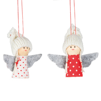 Smiling Angel Dolls With Polka Dot Dress Hanging Decoration (Assorted)
